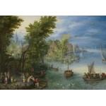 Grafika-02796 Jan Brueghel - River Landscape, 1607