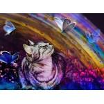 Grafika-02819 Le Chat et les Papillons
