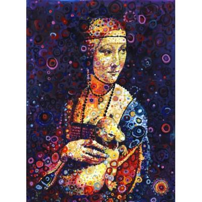 Grafika-02841 Leonardo da Vinci: Lady with an Ermine, by Sally Rich