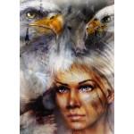 Grafika-T-00061 La Femme, l'Aigle et le Cheval