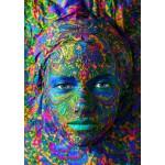 Grafika-T-00082 Face Art : Portrait de Femme