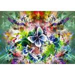Grafika-T-00086 Fleurs et Papillons de Printemps