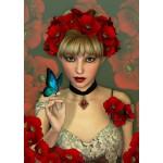 Grafika-T-00093 La Femme et le Papillon
