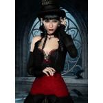 Grafika-T-00094 Femme Gothique aux Corbeaux