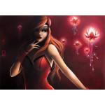 Grafika-T-00114 Misstigri : Red Light Flower