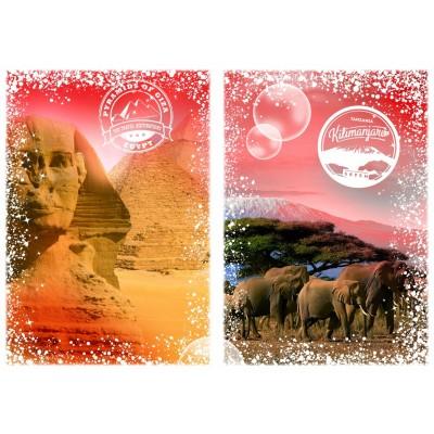 Grafika-T-00206 Travel around the World - Afrique, Egypte et Kenya