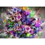 Grafika-T-00314 Fleurs et Papillons