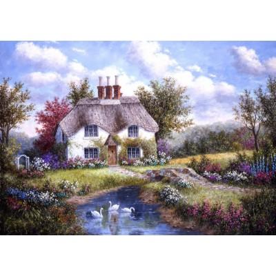 Grafika-T-00501 Dennis Lewan - Swan Creek Cottage