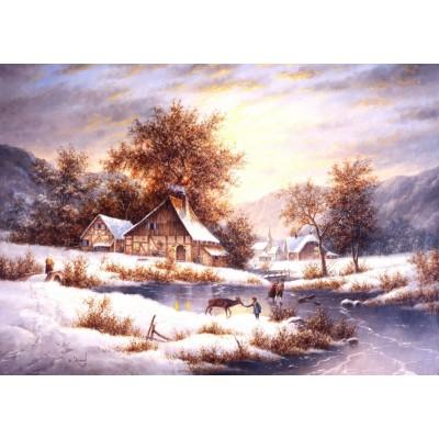Grafika-T-00503 Dennis Lewan - Amber Sky Of Winter