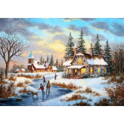 Grafika-T-00519 Dennis Lewan - A Mid-Winter's Eve