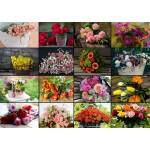 Grafika-T-00520 Collage - Bouquets de Fleurs