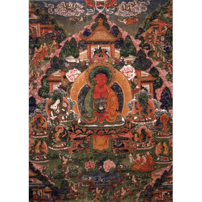 Grafika-T-00603 Buddha Amitabha in His Pure Land of Suvakti