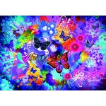 Grafika-T-00742 Fleurs et Papillons Colorés