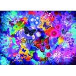 Grafika-T-00745 Fleurs et Papillons Colorés