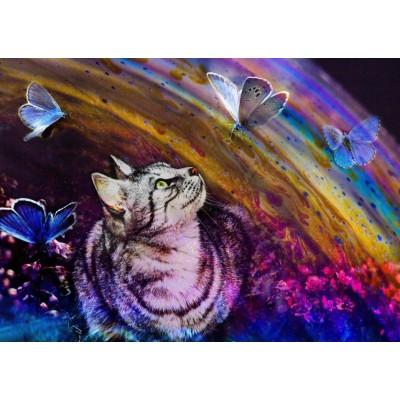 Grafika-T-00857 Le Chat et les Papillons