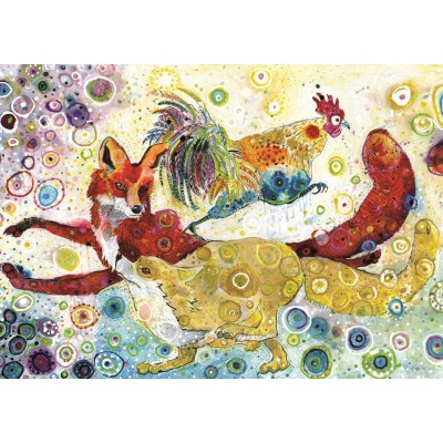 Grafika-T-00881 Sally Rich - Leaping Fox's