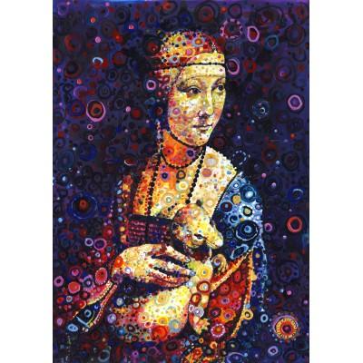 Grafika-T-00887 Leonardo da Vinci: Lady with an Ermine, by Sally Rich