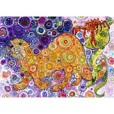 Grafika-T-00901 Sally Rich - Otters Catch