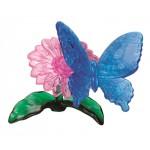 HCM-Kinzel-59125 Puzzle 3D en Plexiglas - La Fleur et le Papillon