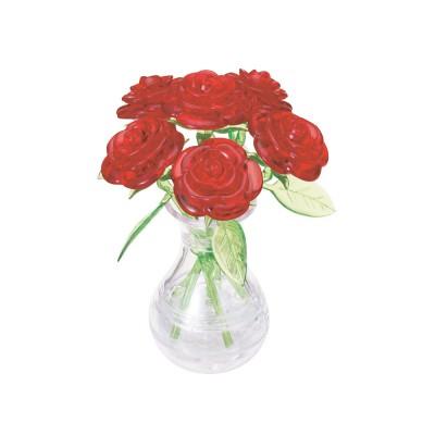 HCM-Kinzel-59171 Puzzle 3D en Plexiglas - Roses Rouges