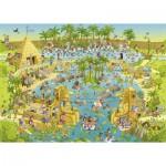 Heye-29693 Marino Degano: Habitat sur le Nil