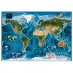 Heye-29797 Carte Satellite du Monde