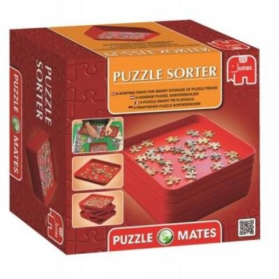 Jumbo-17953 6 Boîtes de Tri pour Puzzles 500 à 2000 Pièces