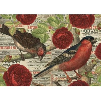 Jumbo-18398 Les Oiseaux aiment les Fleurs