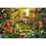 Jumbo-18525 Famille de Tigres dans la Jungle