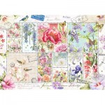 Jumbo-18597 Collage Timbres de Fleurs