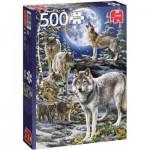 Jumbo-18845 Meute de Loups en Hiver
