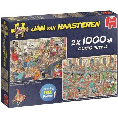 Jumbo-19082 2 Puzzles - Jan Van Haasteren - Réveillon du Nouvel An