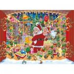 Jumbo-19172 2 Puzzles - Wasgij Christmas 15 - Livraison inattendue du Père Noël