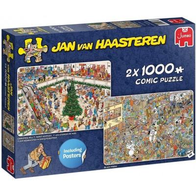 Jumbo-20033 Jan van Haasteren - Holiday Shopping (2x1000 pieces)