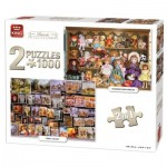 King-Puzzle-05215 2 Puzzles - Classic Collection