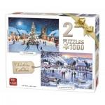 King-Puzzle-05217 2 Puzzles - Noël Rétro