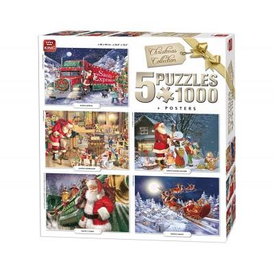 King-Puzzle-05219 5 Puzzles - Noël