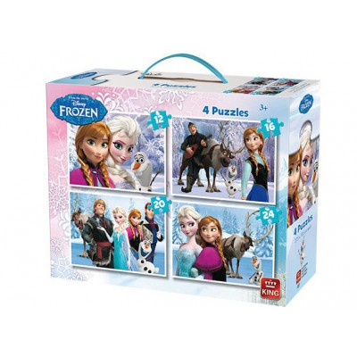 King-Puzzle-05237 4 Puzzles - La Reine des Neiges
