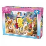 King-Puzzle-05242-B Blanche Neige et les 7 Nains