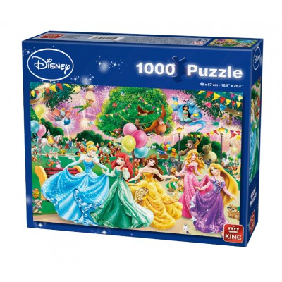 King-Puzzle-05261 Disney Princesses - Feux d'Artifice