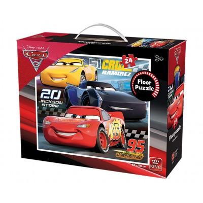 King-Puzzle-05276 Puzzle Géant de Sol - Cars 3