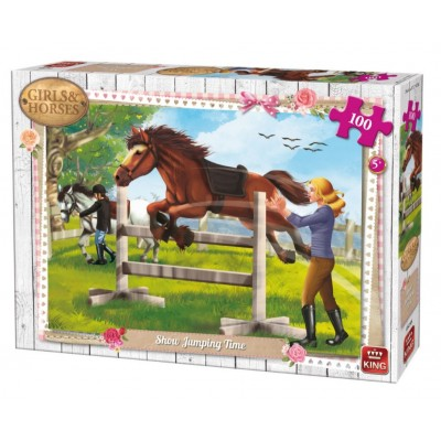 King-Puzzle-05295 Girls & Horses