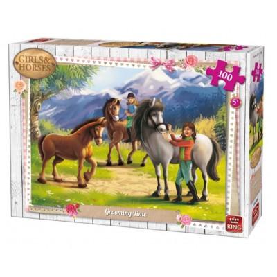 King-Puzzle-05298 Girls & Horses