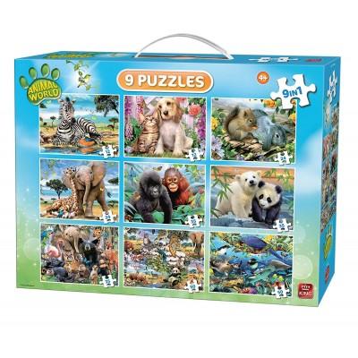 King-Puzzle-05327 9 Puzzles - Animal World
