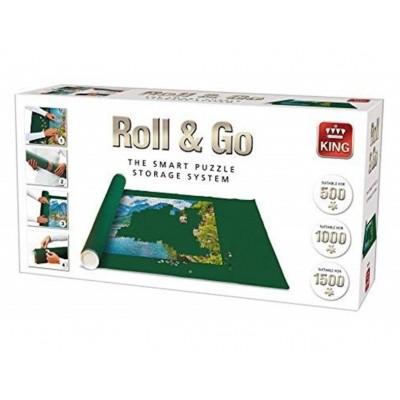 King-Puzzle-05341 Roll & Go - Tapis de Puzzles 500 à 1500 Pièces