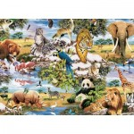 King-Puzzle-05481 Animaux Sauvages