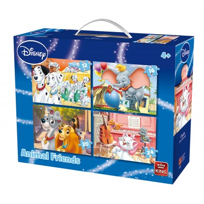 King-Puzzle-05506 4 Puzzles - Animal Friends Disney