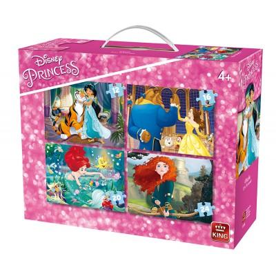 King-Puzzle-05508 4 Puzzles - Disney Princesses
