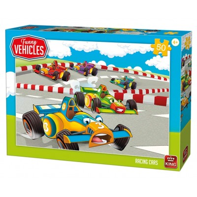 King-Puzzle-05524 Racing Cars
