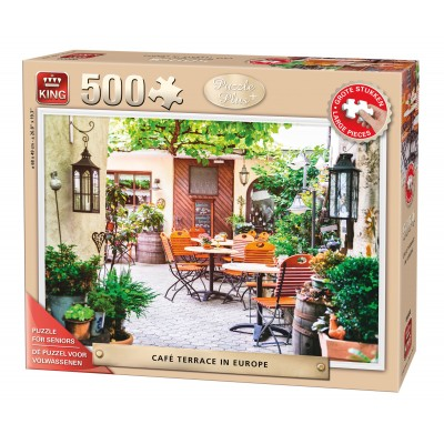 King-Puzzle-05532 Pièces XXL - Café Terrace in Europe